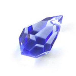 Cz 12x20mm faceted drop trns lgt sap 2p