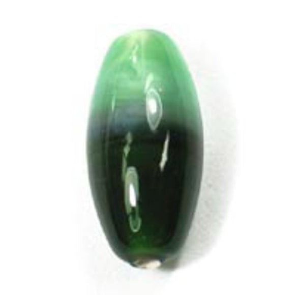Cz h/made 16x8mm oval 2tone greens 2pc