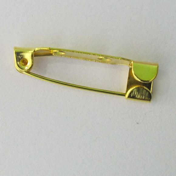 Metal 25 RUNOUT brooch back 2h gld 20p