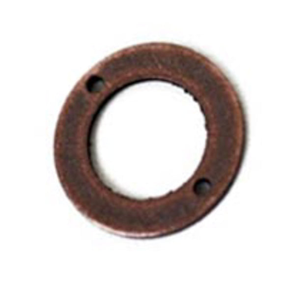 Metal 10mm flat rng 2/hole ant cop 100p