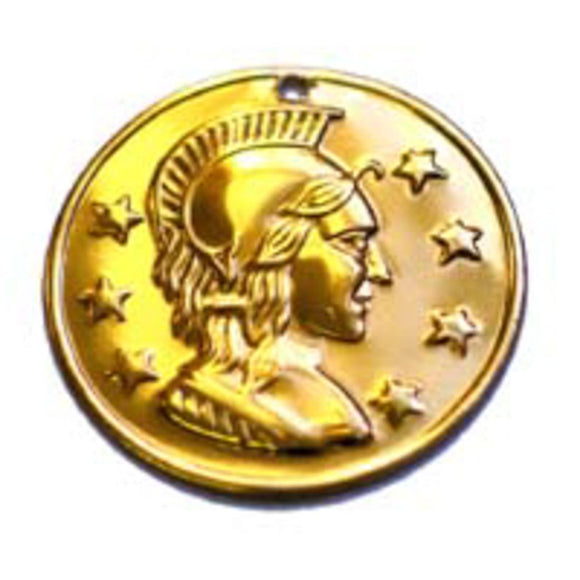 Metal 29mm coin head & 7stars gold 100p NFD