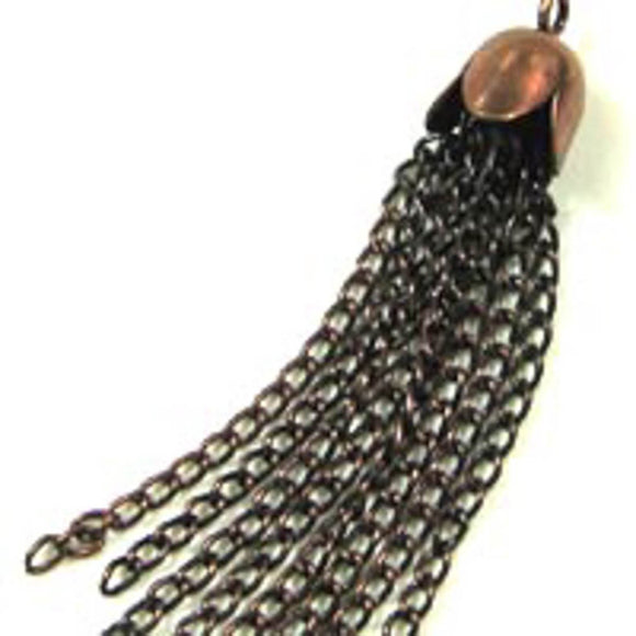 Metal 35x8mm tassel Anti copper 8pcs