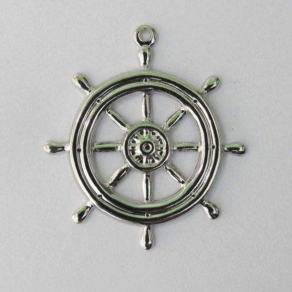 Metal casting 27mm ships wheel silve12pc