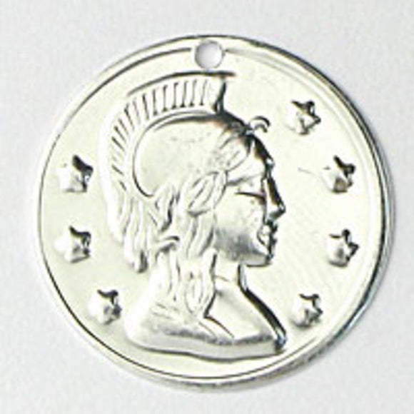 Metal 20mm coin silver 100pcs NFD