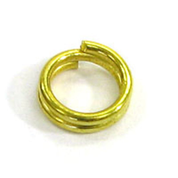 Metal 5mm splitrings SECONDS gold 200pcs