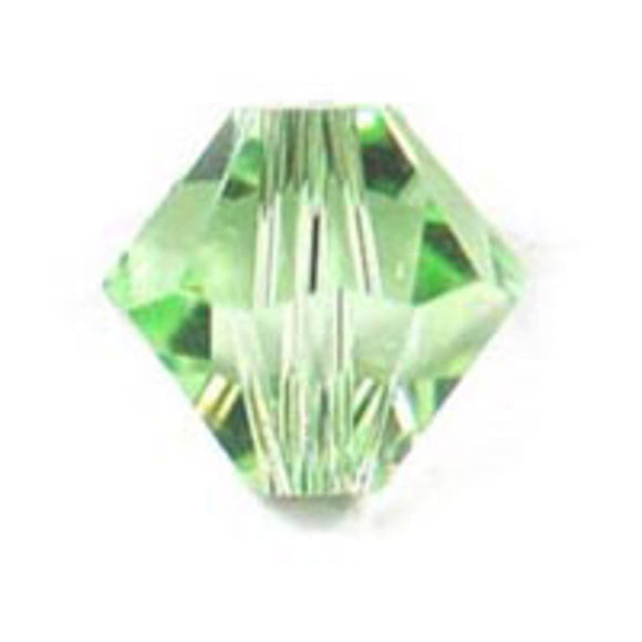 Swarovski 4mm 5328 chrysolite 40p
