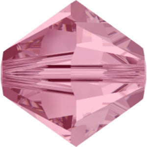 Swarovski 4mm 5328 light rose 40p