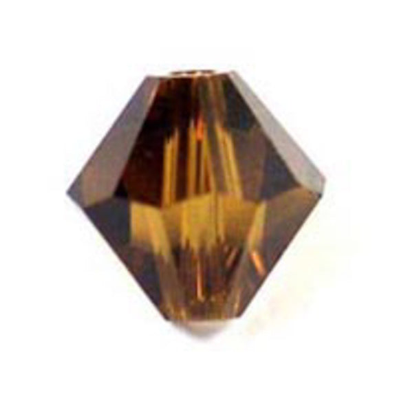 Swarovski 4mm 5328 smoke topaz 40p