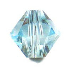 Swarovski 6mm 5328 aquamarine 20p