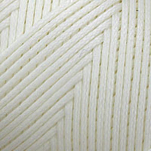 thread 1mm waxed poly ivory approx 200m