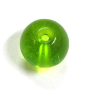 Cg 12mm rnd tiffany trns lime 1str/28pc