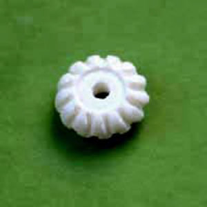 Bone 5x13mm rondelle white 100pcs