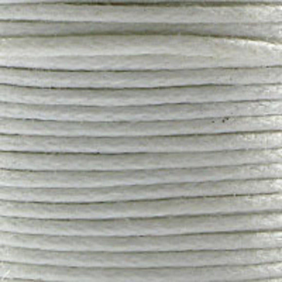 Cord .5mm waxed white 10meters