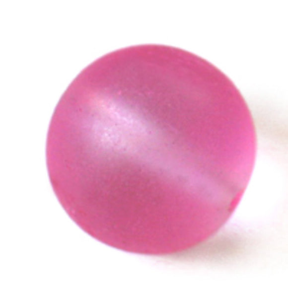 Cg 12mm rnd sea glass frost can pink 32p