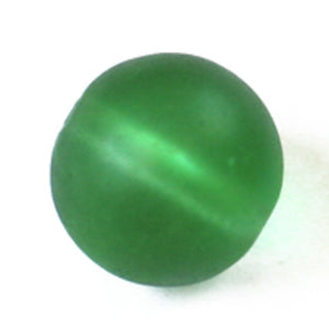 Cg 12mm rnd sea glass frost green 32p