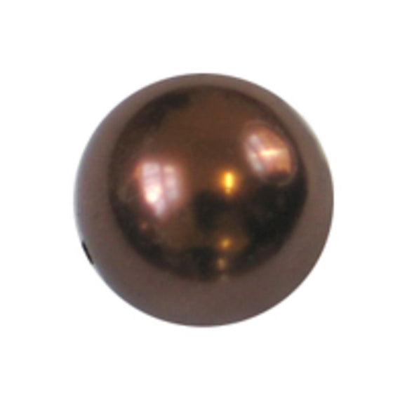 Cg 8mm rnd glass pearl copper 110pcs
