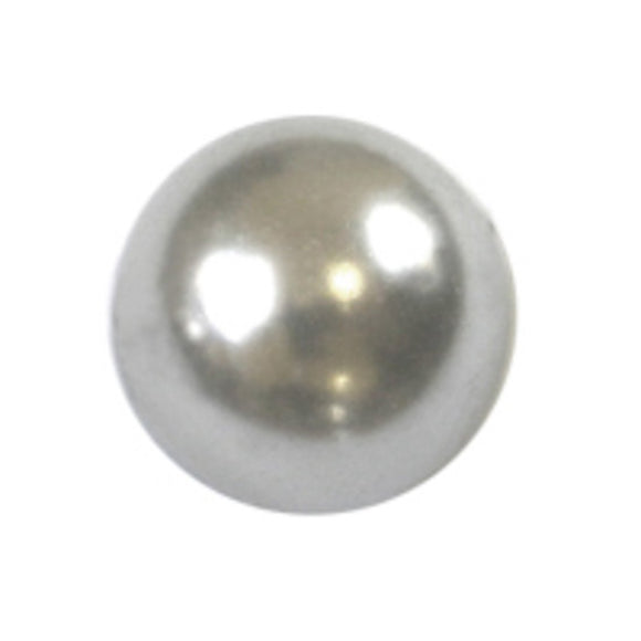 Cg 8mm rnd glass pearl white 110pcs