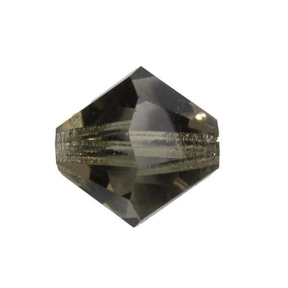 Cz 12mm bicone trns blk diamond 4pcs