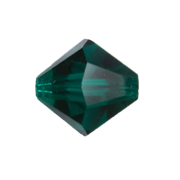 cz 12mm bicone trns emerald 4pcs