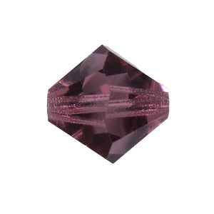 cz 12mm bicone trns light amethyst 4pcs