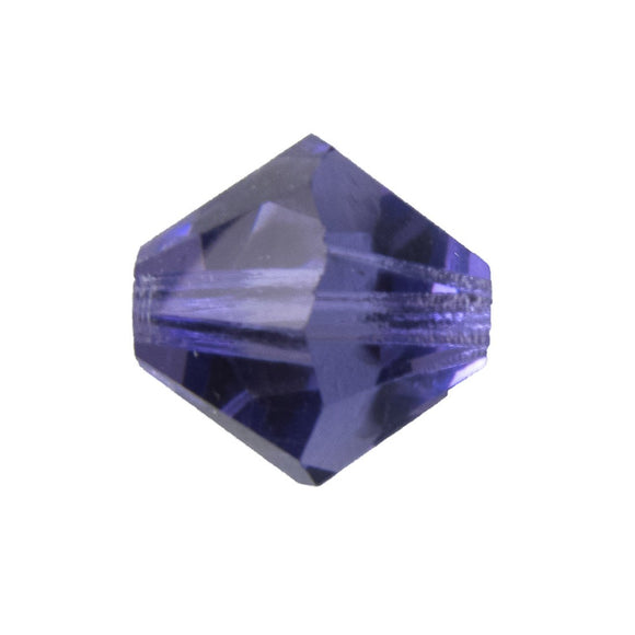 Cz 12mm bicone trns tanzanite 4pcs