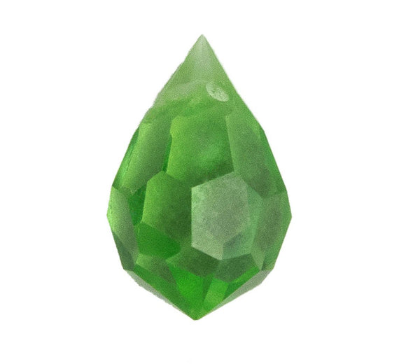 Cz 6x10mm faceted drop trns peridot 4p
