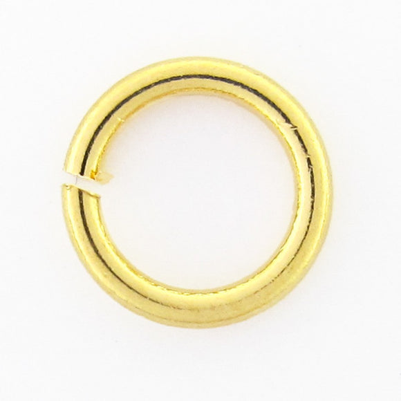 Metal 6x1mm jumpring NF GOLD 100pcs