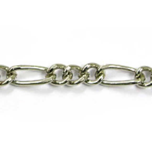 Metal chain letter chain nickel 1m