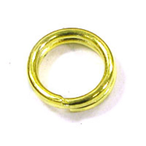Metal 7mm split ring SECONDS gold 200pcs