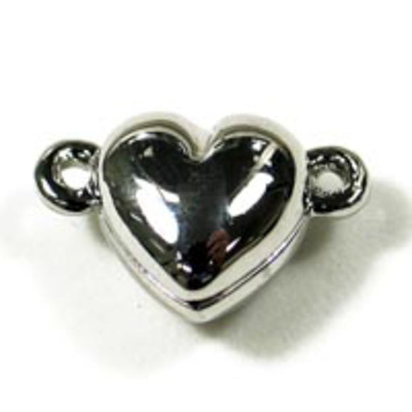Metal 10mm heart magtic NF RP sil 1pc