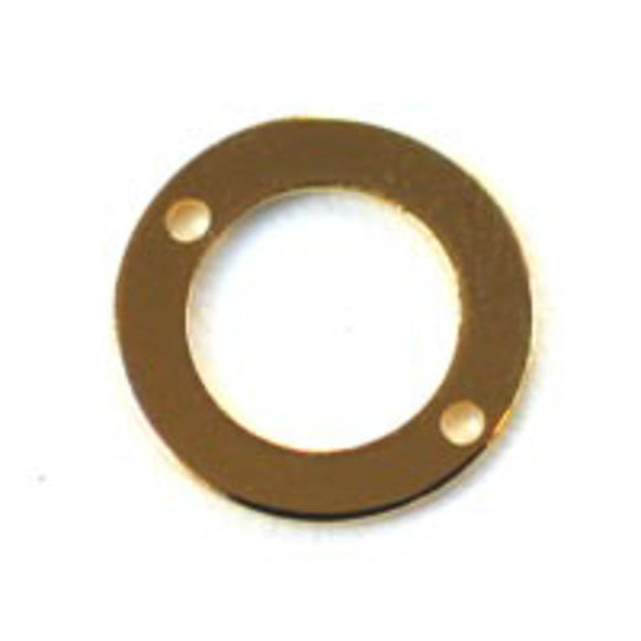 Metal 10mm flat rng 2/hole gold 100p