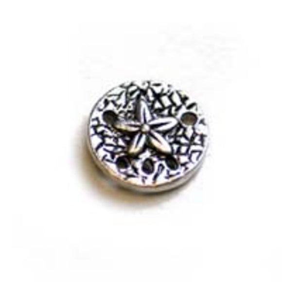 Metal 12mm ornate coin a/silver 24pcs
