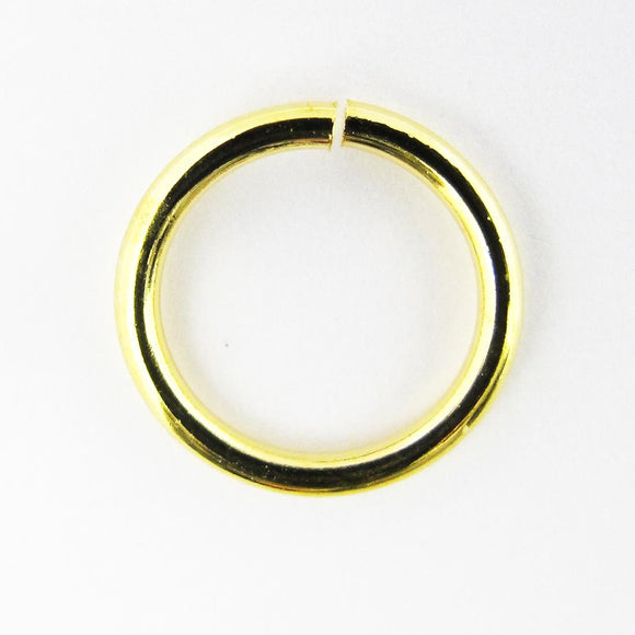 Metal 13x1.5mm jump ring gold 10pcs