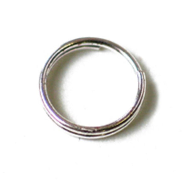 metal 8mm split ring silver 30 pc
