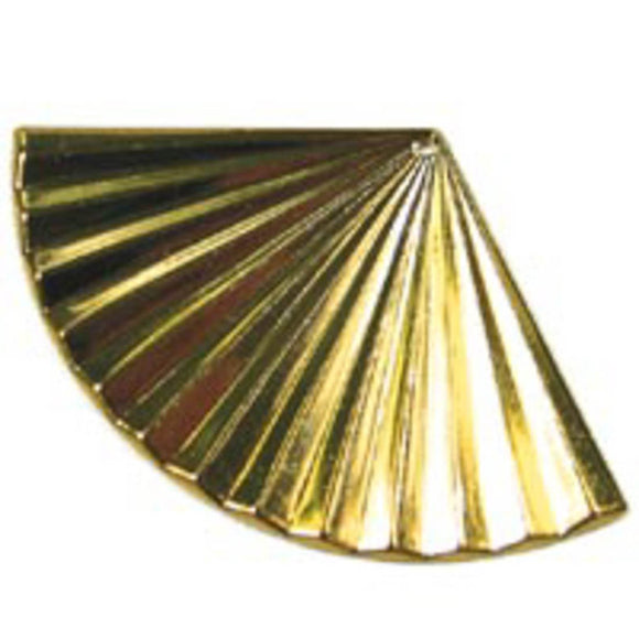 Metal casting 35x55mm rippld fan gold 4p