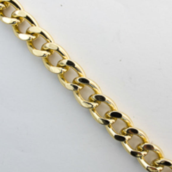 Metal chain 15x10mm curblink gold 5m
