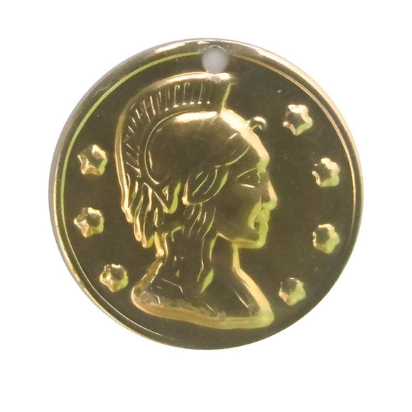 Metal 20mm coin gold 100pcs