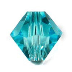 Swarovski 6mm 5328 blue zircon 20p