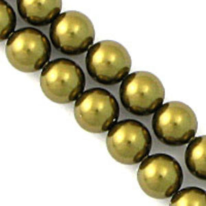 Swarovski 6mm 5810 antique brass 100pcs