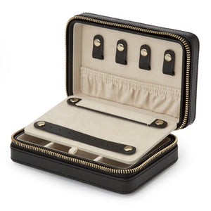 WOLF 1834 PALERMO ZIP CASE - BLACK