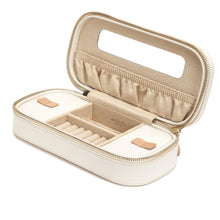 Load image into Gallery viewer, WOLF 1834 CHLOÉ ZIP JEWELRY CASE - CREAM
