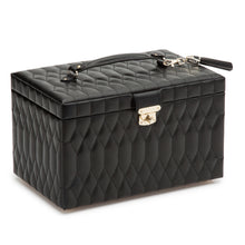 Load image into Gallery viewer, WOLF 1834 CAROLINE LARGE JEWELRY CASE - BLACK