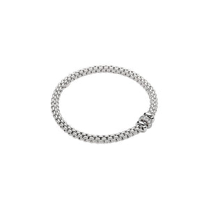 FOPE SOLO FLEX'IT DIAMOND RONDELLE BRACELET - WHITE GOLD