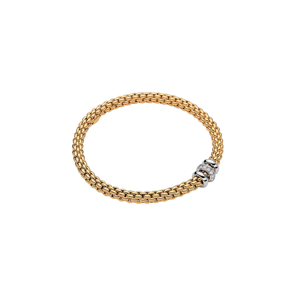 FOPE SOLO FLEX'IT DIAMOND RONELLE BRACELET - YELLOW GOLD
