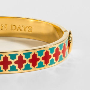 Halcyon Days Agama Turquoise, Red & Gold Bangle