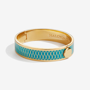 Halcyon Days Parterre Turquoise & Gold Bangle