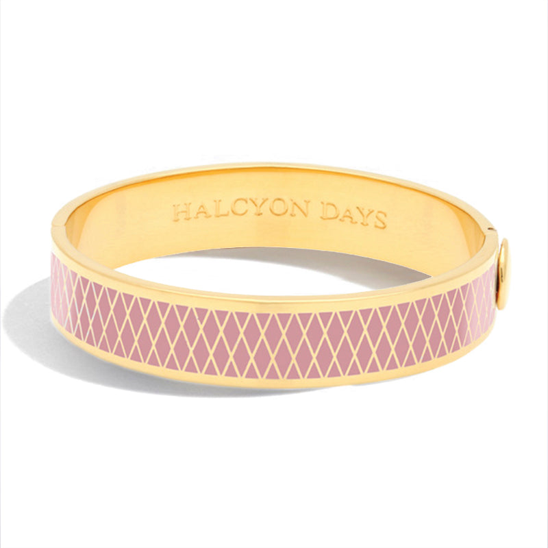 Halcyon Days Parterre Pink & Gold Bangle