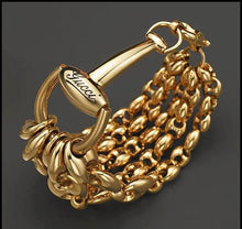 Load image into Gallery viewer, Gucci Marina Link Horsebit Gold Bracelet