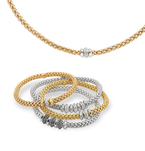 Load image into Gallery viewer, FOPE SOLO FLEX'IT DIAMOND RONDELLE BRACELET - WHITE GOLD