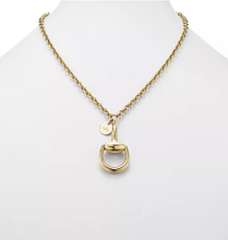 Load image into Gallery viewer, Gucci 18kt Yellow Gold Horsebit Necklace